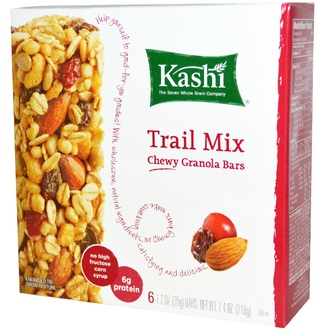 Kashi, Chewy Granola Bars, Trail Mix, 6 Bars, 1.2 oz (35g) - iHerb.com