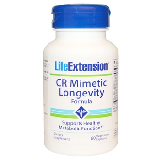 Life Extension, CR Mimetic, формула для долголетия, 60 растительных капсул - iHerb.com