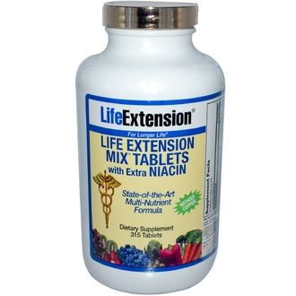 Life Extension, Mix Tablets with Extra Niacin without Copper, 315 Tablets - iHerb.com