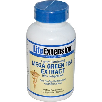 Life Extension, Mega Green Tea Extract, Lightly Caffeinated, 100 Veggie Caps - iHerb.com