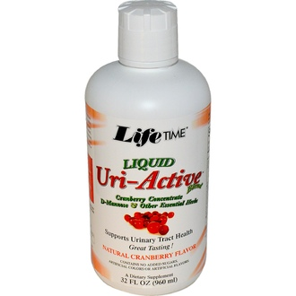Life Time, Liquid Uri-Active Blend, Natural Cranberry Flavor, 32 fl oz (960 ml) - iHerb.com
