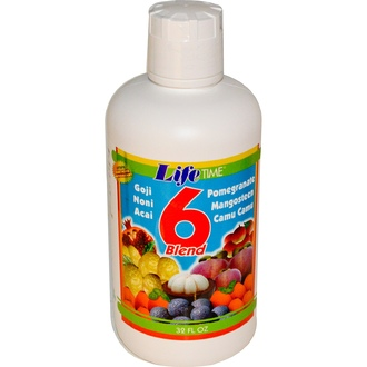Life Time, 6 Blend Fruit Juice, 946 мл - iHerb.com