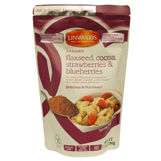 Linwoods, Ground Flaxseed, Cocoa, Strawberries & Blueberries, 7.1 oz (200 g) - iHerb.com