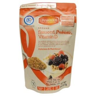 Linwoods, Ground Flax Seed, Probiotic, Vitamin D, 8 oz (227 g) - iHerb.com