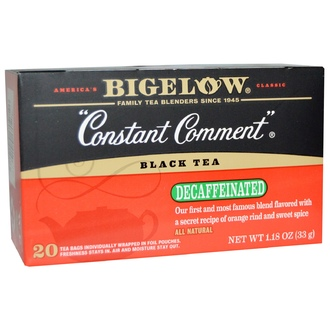 Bigelow, Black Tea, Constant Comment, Decaffeinated, 20 Tea Bags, 1.18 oz (33 g) - iHerb.com