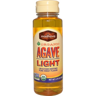 Madhava Natural Sweeteners, Organic Agave, Light, Low-Glycemic Sweetener, 11.75 oz (333 g) - iHerb.com