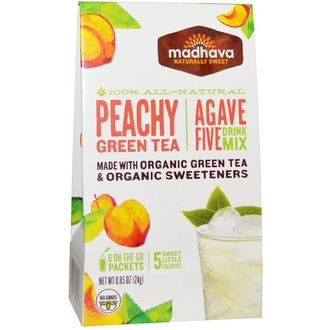 Madhava Natural Sweeteners, Agave Five Drink Mix, Peachy Green Tea, 6 Packets, 0.85 oz (24 g) - iHerb.com