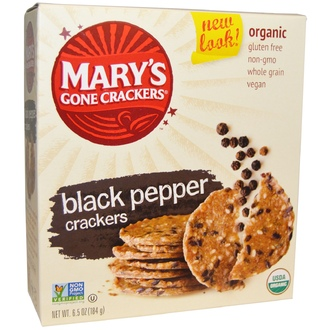 Mary\'s Gone Crackers, Organic Black Pepper Crackers, 6.5 oz (184 g) - iHerb.com