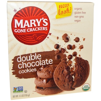 Mary\'s Gone Crackers, Double Chocolate Cookies, 5.5oz - iHerb.com
