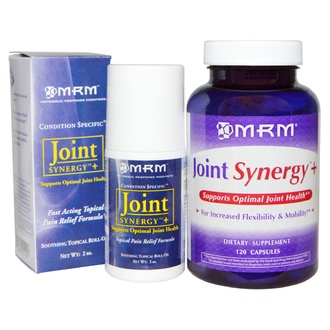 MRM, Joint Synergy + Roll-On, Value Pack, 120 Capsules and 2 oz Roll-On - iHerb.com