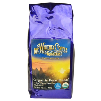 Mt. Whitney Coffee Roasters, Organic Peru Decaf, Whole Bean, 12 oz (340 g) - iHerb.com