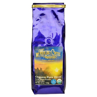 Mt. Whitney Coffee Roasters, Organic Peru Decaf, Ground Coffee, 12 oz (340 g) - iHerb.com