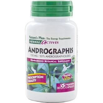 Nature\'s Plus, Herbal Actives, Andrographis, 150 mg, 30 Veggie Caps - iHerb.com