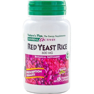 Nature\'s Plus, Herbal Actives, Red Yeast Rice, 600 mg, 60 Veggie Caps - iHerb.com
