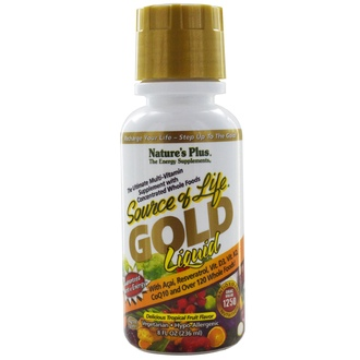 Nature\'s Plus, Source of Life, Gold Liquid, Delicious Tropical Fruit Flavor, 8 fl oz (236 ml) - iHerb.com