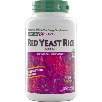 Nature\'s Plus, Herbal Actives, Red Yeast Rice, 600 mg, 120 Veggie Caps - iHerb.com