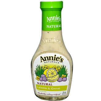 Annie\'s Naturals, Lemon & Chive Dressing, 8 fl oz (236 ml) - iHerb.com