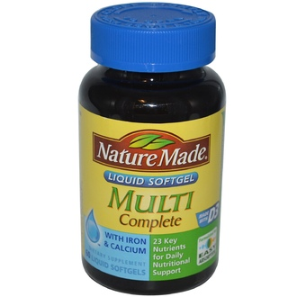 Nature Made, Multi Complete, 60 Liquid Softgels - iHerb.com