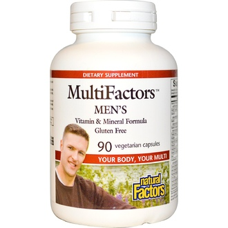 Natural Factors, MultiFactors Men\'s, 90 Veggie Caps - iHerb.com