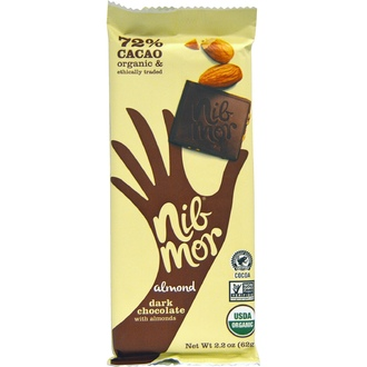 Nibmor, Organic, Dark Chocolate, with Almonds, 2.2 oz (62 g) - iHerb.com