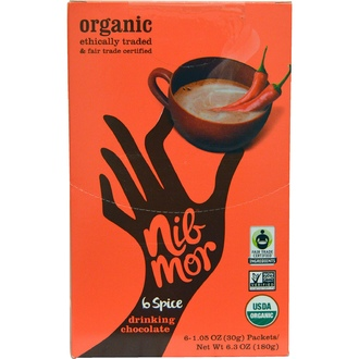 Nibmor, Organic, Drinking Chocolate, 6 Spice, 6 Packets, 1.05 oz (30 g) Each - iHerb.com