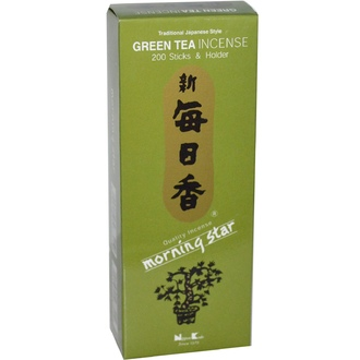 Nippon Kodo, Morning Star, Green Tea Incense, 200 Sticks & Holder  - iHerb.com