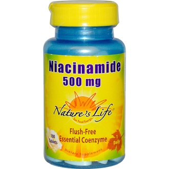 Nature\'s Life, Niacinamide, 500 mg, 100 Tablets - iHerb.com