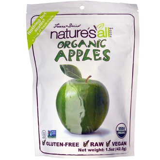 Nature\'s All, Organic Apples, 1.5 oz (42.5 g) - iHerb.com