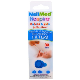 NeilMed, Naspira, Nasal-Oral Aspirator Replacement Filters, For Babies & Kids, 30 Filters - iHerb.com