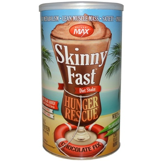 Natural Max, Skinny Fast Hunger Rescue Diet Shake, Chocolate Fix, 17 oz (483 g) - iHerb.com