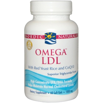 Nordic Naturals, Omega LDL, with Red Yeast Rice and CoQ10, 1000 mg, 60 Soft Gels - iHerb.com
