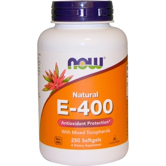Now Foods, Natural E-400 With Mixed Tocopherols, 250 Softgels - iHerb.com