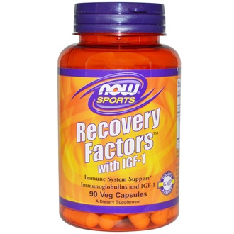 Now Foods, Sports, Recovery Factors with IGF-1, 90 Veggie Caps - iHerb.com