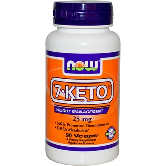 Now Foods, 7-KETO, 25 мг, 90 капсул - iHerb.com