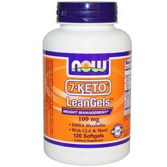 Now Foods, 7-Keto LeanGels, 100 мг, 120 гелевых капсул - iHerb.com