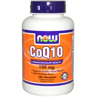 Now Foods, CoQ10, 100 мг, 180 капсул - iHerb.com