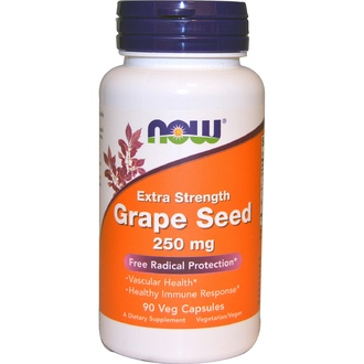 Now Foods, Grape Seed, Extra Strength, 250 mg, 90 Veg Caps - iHerb.com