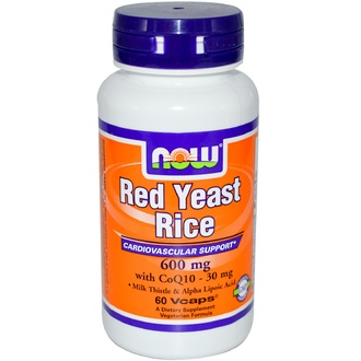 Now Foods, Red Yeast Rice, 600 mg, 60 Vcaps - iHerb.com