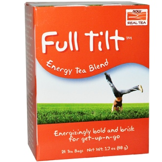 Now Foods, Real Tea, Full Tilt, Energy Tea Blend, 24 Tea Bags, 1.7 oz (48 g) - iHerb.com