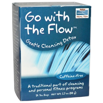 Now Foods, Go With the Flow, Gentle Cleansing Detox, Caffeine-Free, 24 Tea Bags 1.7 oz (48 g) - iHerb.com
