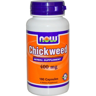 Now Foods, Chickweed, 400 mg, 100 Capsules - iHerb.com