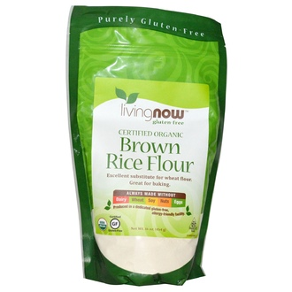 Now Foods, Certified Organic Brown Rice Flour, Gluten-Free, 16 oz (454 g) - iHerb.com