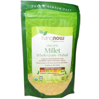 Now Foods, Organic Millet Whole, Gluten Free, 16 oz (454 g) - iHerb.com