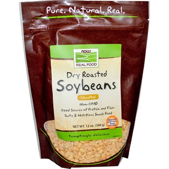 Now Foods, Real Food, Dry Roasted Soybeans, Unsalted, 12 oz (340 g) - iHerb.com