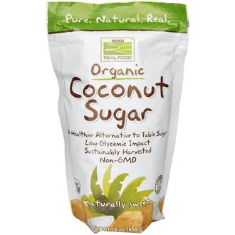 Now Foods, Real Food, Organic Coconut Sugar, 16 oz (454 g) - iHerb.com