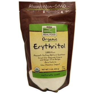 Now Foods, Organic, Erythritol, Naturally Sweet, 1 lb (454 g) - iHerb.com
