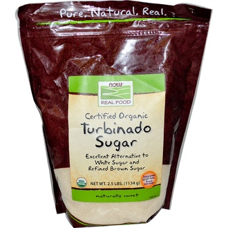 Now Foods, Real Food, Certified Organic, Turbinado Sugar, 2.5 lbs (1134 g) - iHerb.com