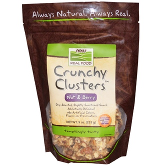 Now Foods, Real Food, Crunchy Clusters, Nut & Berry, 9 oz (255 g) - iHerb.com