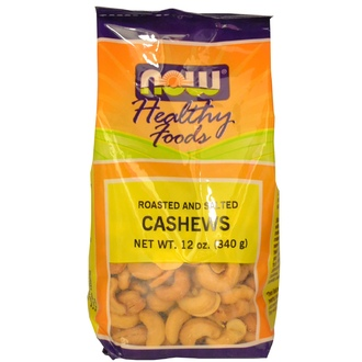 Now Foods, Healthy Foods, Cashews, Roasted and Salted, 12 oz (340 g) - iHerb.com