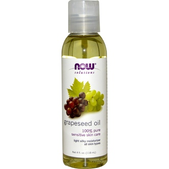 Now Foods, Solutions, Grapeseed Oil, 4oz - iHerb.com
